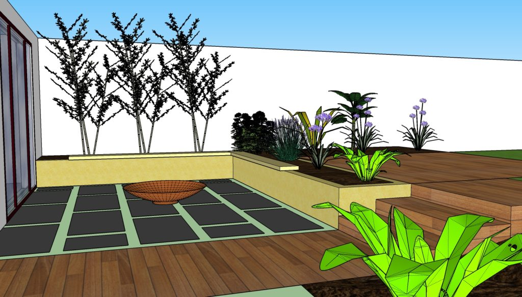 Plan terrasse Bouaye papyrus paysage